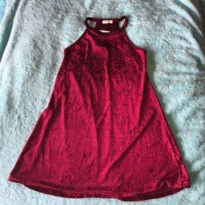 Maroon velvet dress!